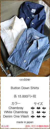orslow (オアスロウ) 01-8012 Button Down Shirts